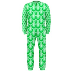 Awesome Retro Pattern Green Onepiece Jumpsuit (men)  by ImpressiveMoments