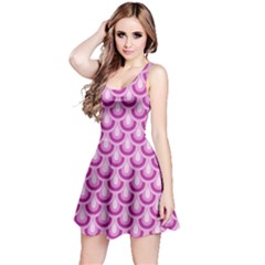 Awesome Retro Pattern Lilac Reversible Sleeveless Dresses by ImpressiveMoments