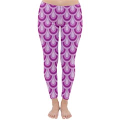 Awesome Retro Pattern Lilac Winter Leggings by ImpressiveMoments