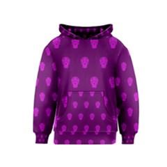 Skull Pattern Purple Kid s Pullover Hoodies by MoreColorsinLife