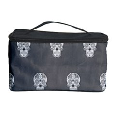 Skull Pattern Silver Cosmetic Storage Cases by MoreColorsinLife
