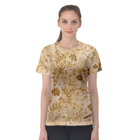 Flower Pattern In Soft  Colors Women s Sport Mesh Tees by FantasyWorld7