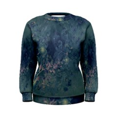 Vintage Floral In Blue Colors Women s Sweatshirts by FantasyWorld7