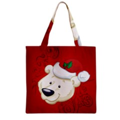 Funny Polar Bear Grocery Tote Bags by FantasyWorld7