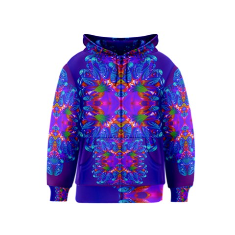 Abstract 5 Kids Zipper Hoodies