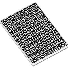 Black And White Owl Pattern Large Memo Pads by creativemom