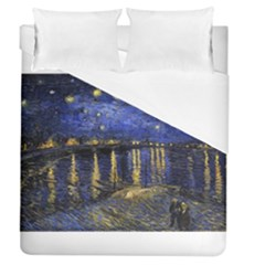 Vincent Van Gogh Starry Night Over The Rhone Duvet Cover Single Side (full/queen Size)