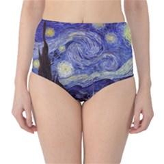 Van Gogh Starry Night High Waist Bikini Bottoms