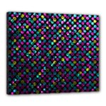 Polka Dot Sparkley Jewels 2 Canvas 24  x 20