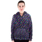 Polka Dot Sparkley Jewels 2 Women s Zipper Hoodies