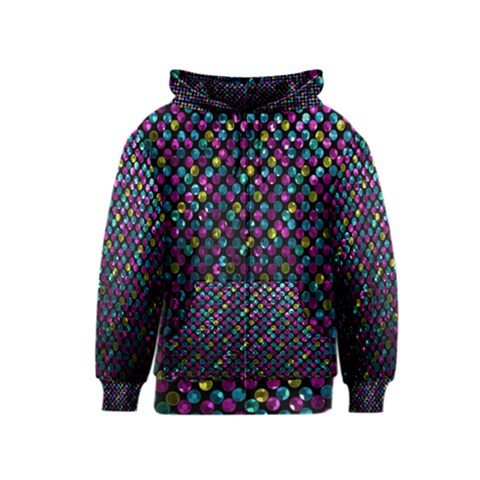 Polka Dot Sparkley Jewels 2 Kids Zipper Hoodies
