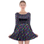 Polka Dot Sparkley Jewels 2 Long Sleeve Skater Dress
