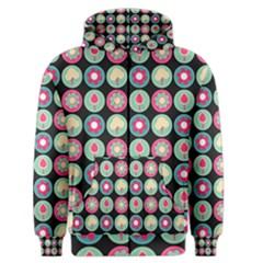 Chic Floral Pattern Men s Zipper Hoodies by creativemom