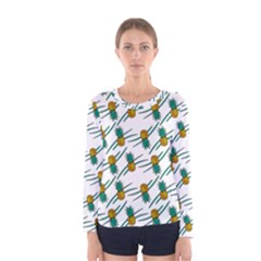 Pineapple Pattern Women s Long Sleeve T Shirts by Famous