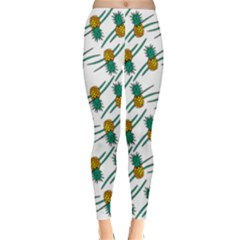 Pineapple Pattern Winter Leggings by Famous