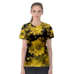 Phenomenal Blossoms Yellow Women s Sport Mesh Tees