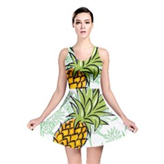 Pineapple Pattern 05 Reversible Skater Dresses