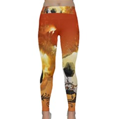 Soccer With Fire And Flame And Floral Elelements Yoga Leggings