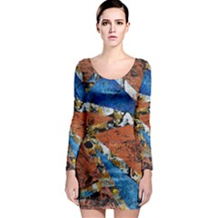 Triangles Long Sleeve Bodycon Dresses by timelessartoncanvas