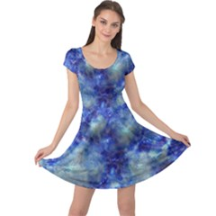 Alien Dna Blue Cap Sleeve Dresses by ImpressiveMoments