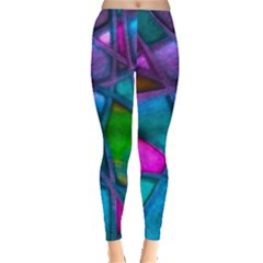 Imposant Abstract Teal Women s Leggings by ImpressiveMoments