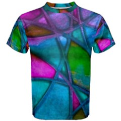 Imposant Abstract Teal Men s Cotton Tees by ImpressiveMoments
