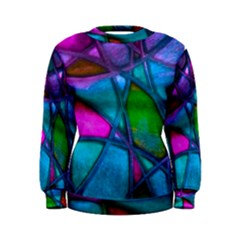 Imposant Abstract Teal Women s Sweatshirts by ImpressiveMoments