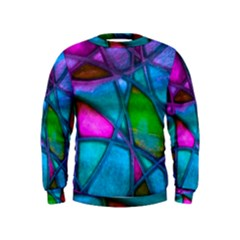 Imposant Abstract Teal Boys  Sweatshirts by ImpressiveMoments