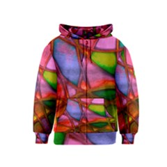 Imposant Abstract Red Kids Zipper Hoodies by ImpressiveMoments