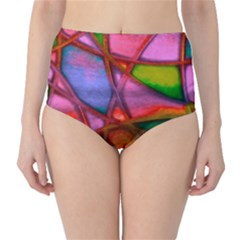 Imposant Abstract Red High-waist Bikini Bottoms by ImpressiveMoments
