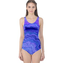 Keep Calm Blue Women s One Piece Swimsuits by ImpressiveMoments