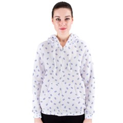 Officially Sexy Os Collection Blue & White Women s Zipper Hoodie by OfficiallySexy