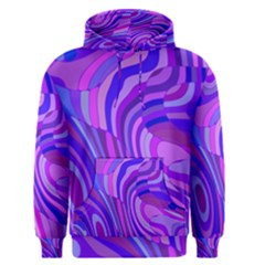 Retro Abstract Blue Pink Men s Pullover Hoodies by ImpressiveMoments