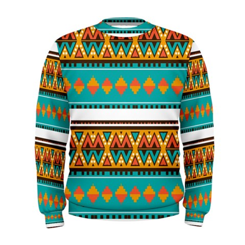 Tribal Design In Retro Colors  Men s Sweatshirt