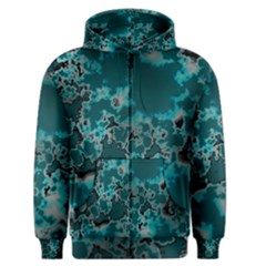 Unique Marbled Teal Men s Zipper Hoodies by MoreColorsinLife
