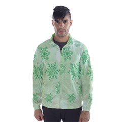 Winter Bokeh Green Wind Breaker (men) by MoreColorsinLife