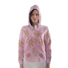 Winter Bokeh Pink Hooded Wind Breaker (women) by MoreColorsinLife