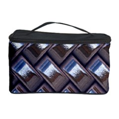 Metal Weave Blue Cosmetic Storage Cases by MoreColorsinLife