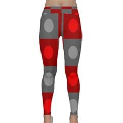 Circles In Squares Pattern Yoga Leggings