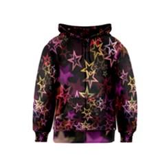 Sparkly Stars Pattern Kids Zipper Hoodies by LovelyDesigns4U