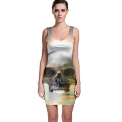 Skull Sunset Bodycon Dresses by icarusismartdesigns
