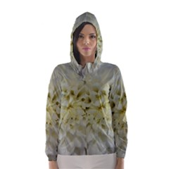 White Flowers Hooded Wind Breaker (women)