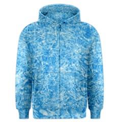 Blue Ice Crystals Men s Zipper Hoodies by trendistuff
