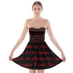 Strapless Bra Top Dress by girlwhowaitedfanstore