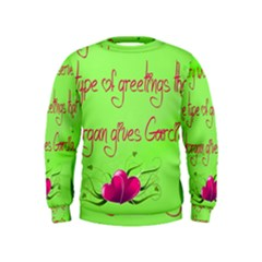 Garcia s Greetings Boys  Sweatshirts by girlwhowaitedfanstore