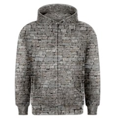 Stone Wall Grey Men s Zipper Hoodies by trendistuff