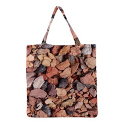Colored Rocks Grocery Tote Bags by trendistuff
