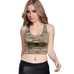 Block Wall 1 Racer Back Crop Tops by trendistuff
