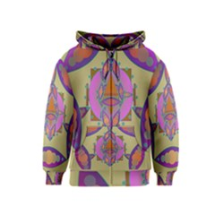 Mandala Kids Zipper Hoodies by Valeryt