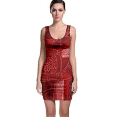 Red Patchwork Bodycon Dresses by trendistuff